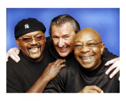 Uriel Jones (L), having a laugh with Bob Babbitt (C) and Eddie Willis (R) (Courtesy: Funk Brothers   4Ever)