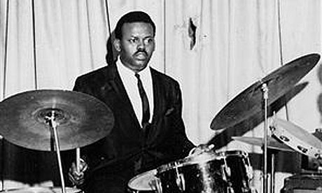 Uriel Jones, in his heyday as one of the three original Motown drummers; Jones died this week at the age of 74 (Courtesy: Guardian.co.UK)