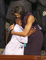Ty'Sheoma Bethea with First Lady Michelle Obama (Courtesy: egadams63)