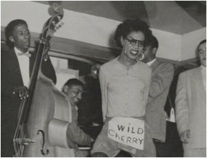 Patsy Vidalia, aka Pat Valdelar, aka Irving Ale, in full tilt at the Dew Drop Inn (Courtesy: Queer Music Heritage)