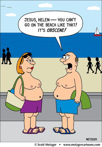 that cartoon from facebook mammaries v man boobs