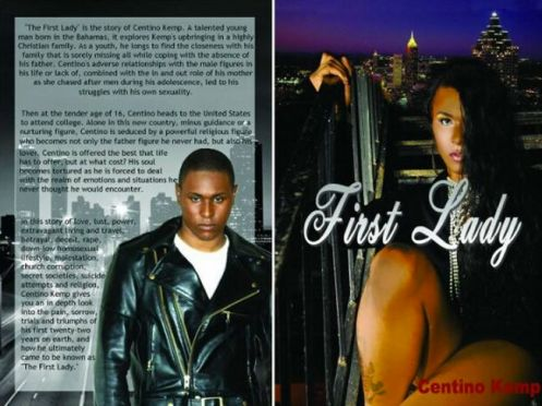 "The cover of Centino Kemp's new nonfiction book, ""First Lady,""which purports to detail his relationship with Bishop Eddie Long (Courtesy: Project Q Atlanta)"