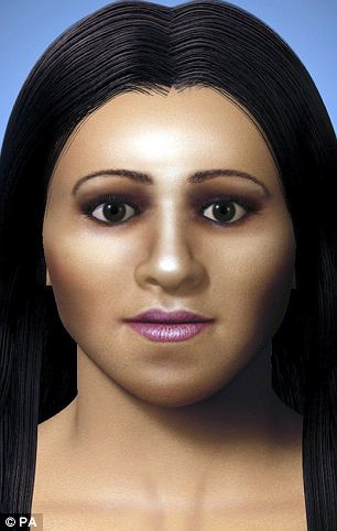Is this the face of Cleopatra VII's rival and sister, Arsinoë IV?  Unfortunately, this depiction was recreated from photos of a skull said to be of the murdered Egyptian royal, and not the skull itself (Courtesy: Daily Mail)