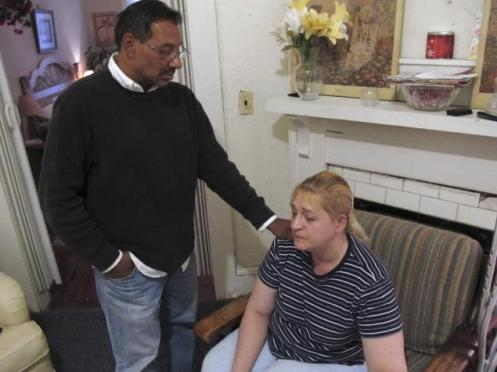 Luis Santiago and Sherry West, parents of the murdered baby boy, Antonio Santiago (Courtesy: NY Daily News)