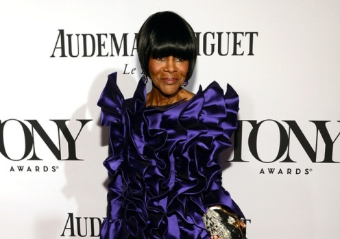"Cicely Tyson last night at the Tony Awards in New York.  She won a Tony for her performance in ""The Trip to Bountiful."" (Courtesy: Shadow and Act)"