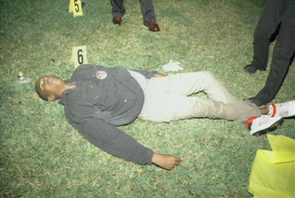 Unobscured photograph of Trayvon Martin's body (Courtesy: Drudge)