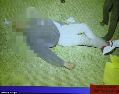 This was the position of Trayvon's body when Officer Raimondo turned him over (Courtesy: Daily Mail)