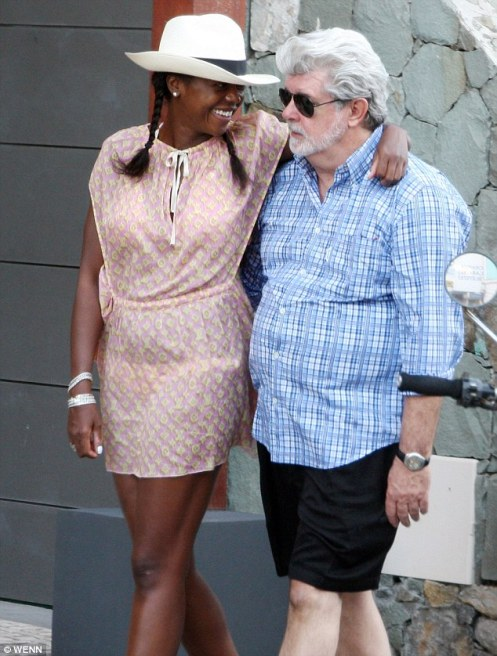 Mellody and George in a more casual moment (Courtesy: Daily Mail)