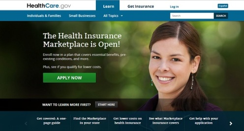 The Health Insurance Marketplace website, otherwise known as the gateway to Obamacare; I think I am going to wait until next week to apply and skip the disappointment.  It just means that people are willing to make it work (Courtesy: Think Progress)